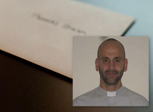Carta del Padre Diego Zandrino Stang, becado por FONSAC